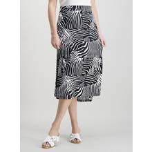 Monochrome Zebra Print Maxi Skirt