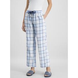 Blue Check Turn-Up Pyjama Bottoms