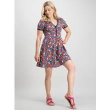 PETITE Multicoloured Ditsy Floral Lace Trim Tea Dress
