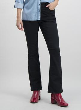Black Soft Touch Kickflare Trousers