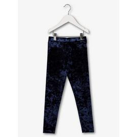 Navy Crushed Velour Leggings