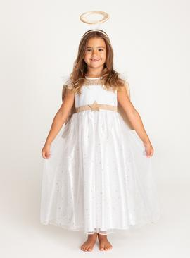 Christmas Nativity White Angel Costume Set - 9-10 years