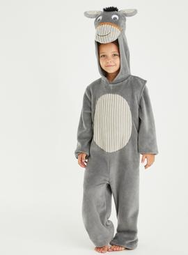 Christmas Nativity Grey Donkey Costume - 9-10 years
