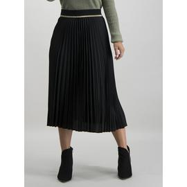 PETITE Black Pleated Skirt