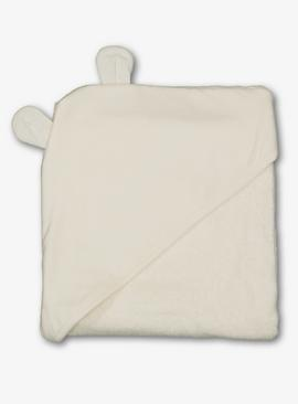 Cream Bear Hooded Baby Towel - One Size