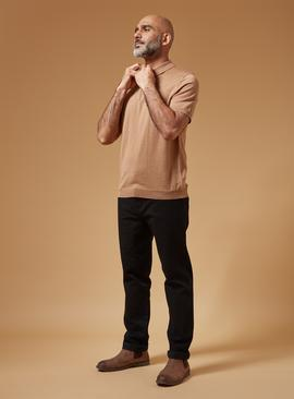 PREMIUM Tan Merino Wool Polo Shirt