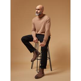 PREMIUM Tan Merino Wool Crew Neck Jumper