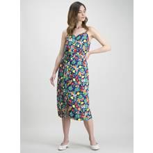 Multicoloured Fruit Print Cami Dress