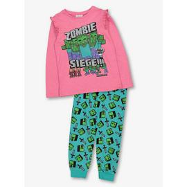 Halloween Minecraft Pink And Green Pyjama Set