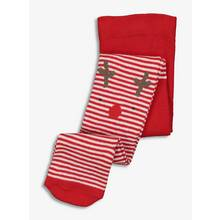 Christmas Reindeer Red & White Stripe Tights