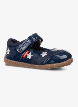 ToeZone Navy First Walkers Star Shoe
