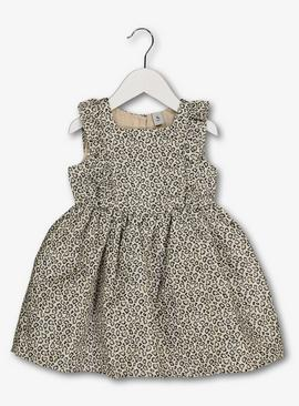 Cream Leopard Print Dress