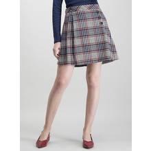 Multicoloured Check Skirt