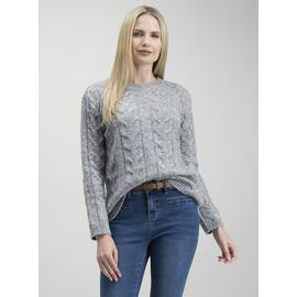 Grey Chunky Cable Knit Jumper