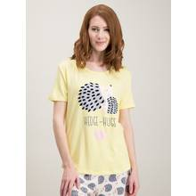 Yellow Hedgehog Graphic Pyjama Top