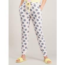 White Hedgehog Print Pyjama Bottoms