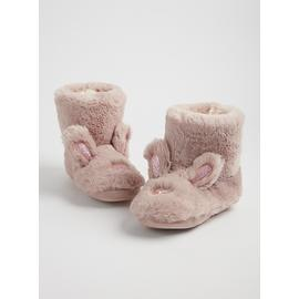 Pale Purple Fluffy Bunny Slipper Boots
