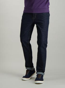 Dark Blue Denim Slim Fit Jeans With Stretch