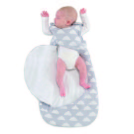 Online Exclusive SNÜZ Grey Cloud Sleep Bag