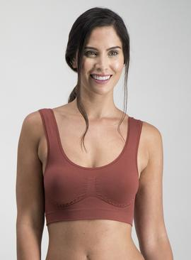Pink & Burgundy Ribbed Seamless Crop Top 2 Pack