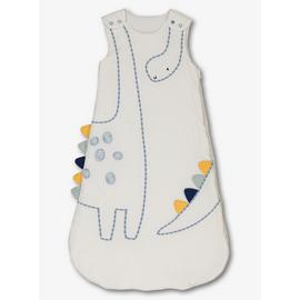 White Dinosaur Sleep Bag 2.5 Tog
