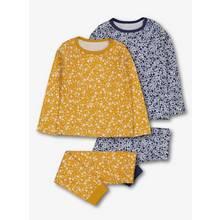 Mustard Yellow & Blue Floral Pyjamas 2 Pack
