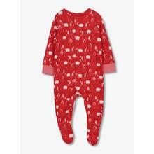 Christmas Red Polar Bear Print Sleepsuit