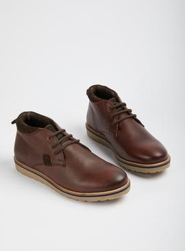 Sole Comfort Brown Leather Chukka Boots