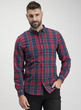 Green & Red Tartan Regular Fit Check Shirt