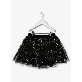 Black Sequin Party Skirt