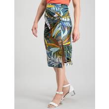 PETITE Multicoloured Tropical Animal Print Skirt
