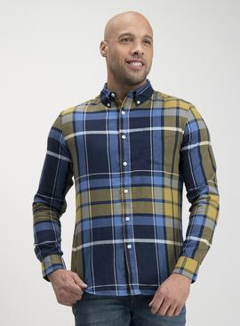 Blue & Green Check Regular Fit Shirt