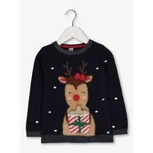 Christmas Navy Reindeer & Present Jumper