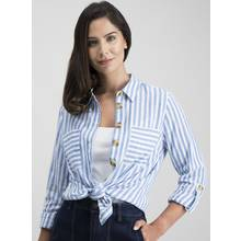 Blue Nautical Stripe Shirt