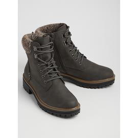 Sole Comfort Brown Knitted Lace Up Boots