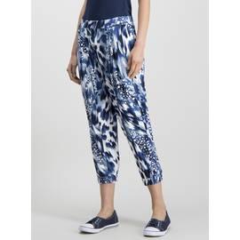 7a8b3793a Multicoloured Tie Dye Cropped Jersey Drapey Trousers