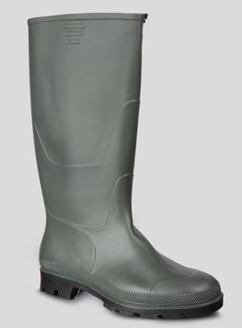 Khaki Green Plain Wellies