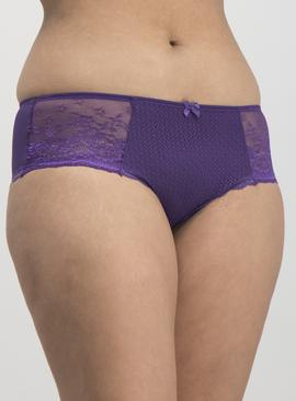 Multicoloured Textured Mesh Knicker 3 Pack