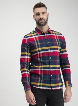 Multicoloured Bright Check Regular Fit Shirt