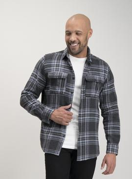 Grey Neutral Check Overshirt