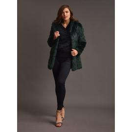 PREMIUM Dark Green Faux Fur Coat