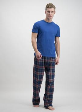 Christmas Blue & Navy Tartan Pyjamas