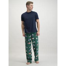 Christmas Green & Navy Polar Bear Print Pyjamas