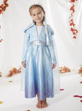 Disney Frozen 2 Elsa Blue Costume - 9-10 years