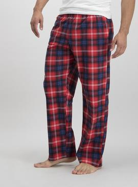 Multicoloured Check Fleece Pyjama Bottoms 2 Pack