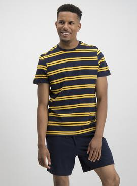 Navy & Mustard Stripe Pyjamas