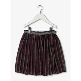 Multicoloured Striped Glitter Skirt