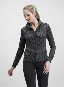 Online Exclusive Active Grey Leopard Print Jacket