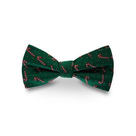 Christmas Candy Cane Adjustable Length Bow Tie - One Size