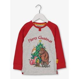 Christmas The Gruffalo Red & Grey Top